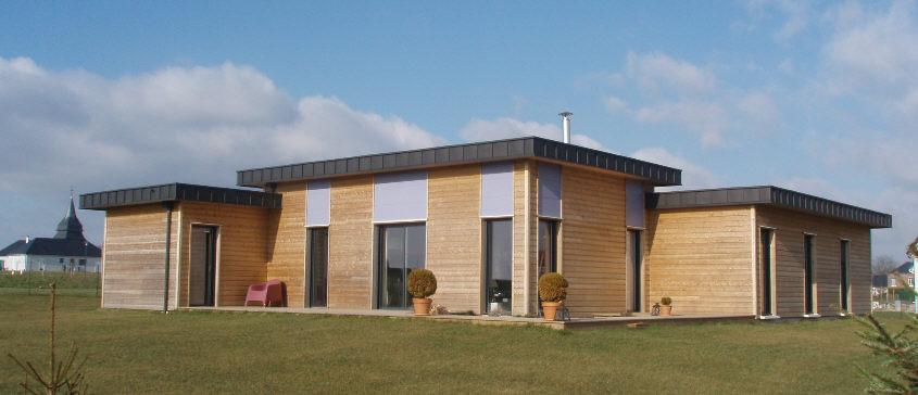 Maison toit plat bois maison bois toit plat belle maison - Toit terrasse ossature bois ...