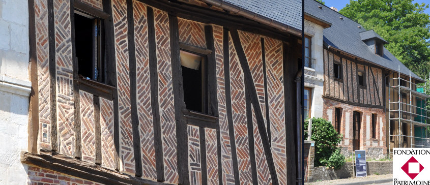 R novation d 39 un ensemble traditionel en colombage estampill fondat - Restauration maison normande ...